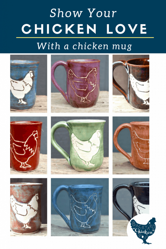 Backyard Chicken Project is delighted to present... chicken mugs! This adorable chicken mug is so fun you'll be showing it off to all your chicken-keeping friends!