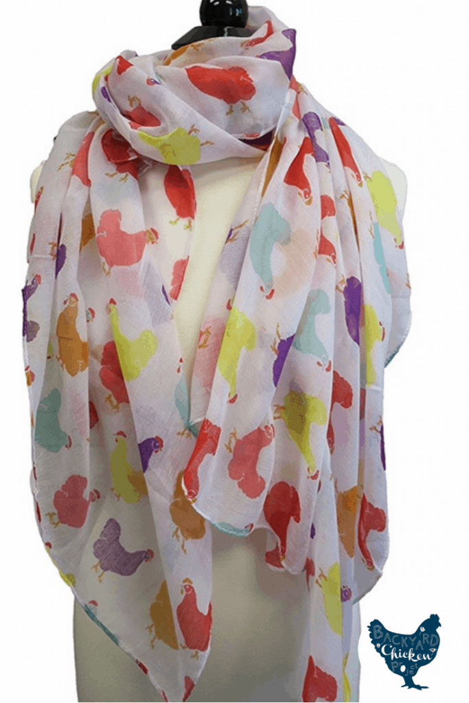 A chicken scarf! We absolutely adore this scarf. With its bright colors and modern design, you'll be the most stylish chicken keeper on the block! We recently taught you how to keep your chickens warm in winter, but we didn't forget about you! Get toasty with this awesome scarf!