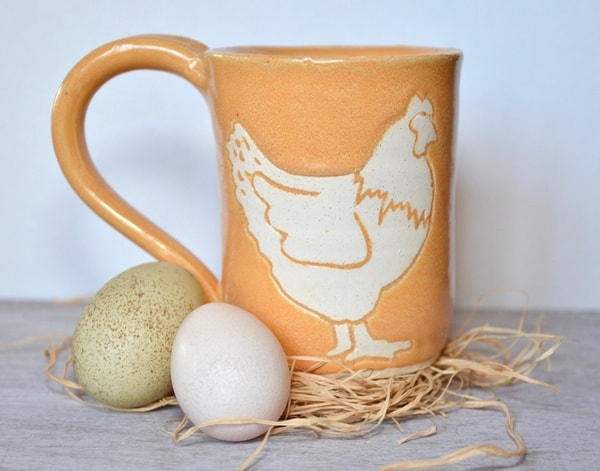 Chicken lovers unite! This adorable chicken mug is so fun you'll be showing it off to all your chicken keeping friends!