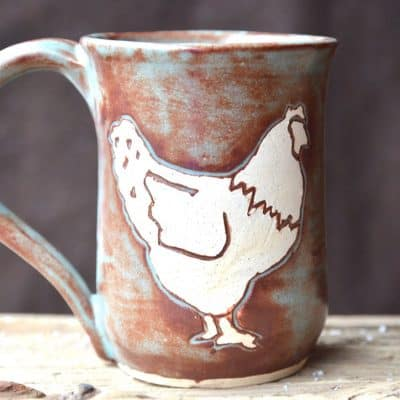 This chicken mug is sure to brighten each and every morning as you sip your hot coffee or tea!