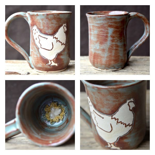 What better way to show your love of chickens than with a chicken mug?!