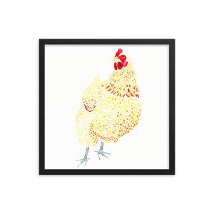 Orpington Chicken Art Print