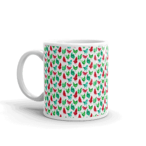 Chicken Gifts: Christmas Chicken Mug
