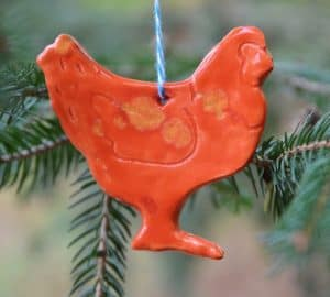 chicken ornament from imaginacres