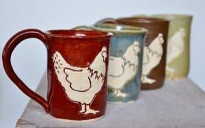 Chicken mugs from ImaginAcres