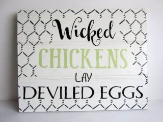 You know what your gang of chickens deserves? A badass coop! We've picked out a dozen chicken coop signs to help you snazz up the place. Or, you know, give your chickens something to poop on.