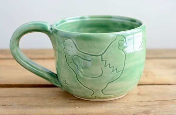 Want a chance to win a free chicken mug? Join our flock, we pick a new winner every month!